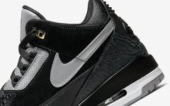 后天发售!黑水泥配色 Air Jordan 3 Tinker 质感出众