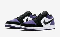 質感極佳絨面革,黑紫 Air Jordan 1 Low 即將發售