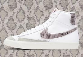 质感麂皮搭配蛇纹细节,Nike Blazer Mid 全新配色即将发售