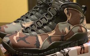 """军事风迷彩装扮!这款 Air Jordan 10""""Desert Camo"""" 实物帅炸"""