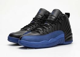 荔枝纹皮革质感极佳,Air Jordan 12皇家蓝实物近赏