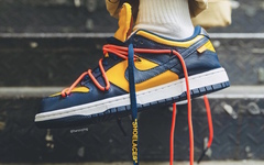 上腳十足帥氣!Off-White x  Dunk Low 海軍藍近賞