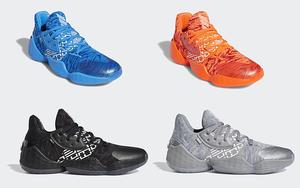 一口气四款配色!adidas Harden Vol. 4 你期待吗?