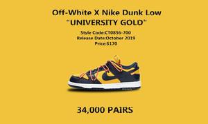 货量曝光!黄蓝版本 Off-White™ x Nike SB Dunk Low 入手不易