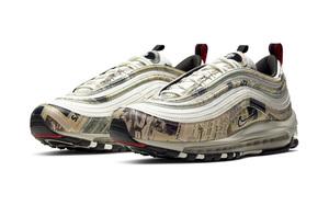 旧报纸鞋面复古又时尚!全新 Air Max 97 创意满分