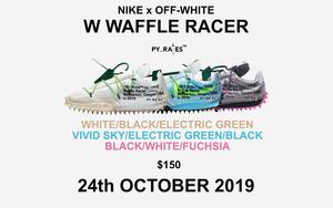 發售日期延遲!Off-White x Nike Waffle Racer 下月亮相