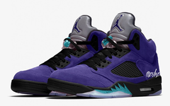 "全新的紫葡萄配色,Air Jordan 5 ""Alternate Grape"" 明年发售"