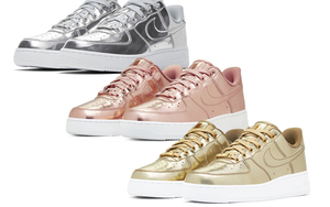 "金銀銅選哪雙?Nike Air Force 1 SP ""Liquid Metal"" 系列曝光"