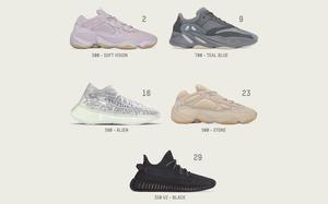 下个月有5双 Yeezy 鞋款即将发售!你准备好了吗?