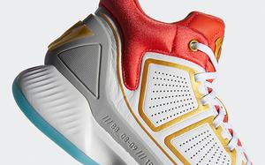 颜值经典复古! adidas D Rose 10 全新白红配色上架