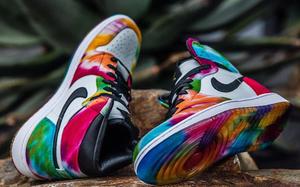 彩虹扎染鞋面!这款 Air Jordan 1 炫爆了