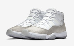 "哪个小姐姐能抗拒?! Air Jordan 11 "" Metallic Silver"" 官图释出"