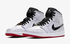 官方预告释出!CLOT x Air Jordan 1 Mid 白丝绸是你入手目标吗?