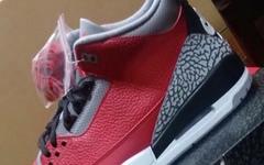 """经典水泥配色再度来袭!这次是 Air Jordan 3 """"红水泥"""",将于明年亮相!"""