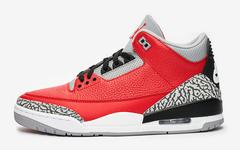 外观表现抢眼讨喜!红水泥 Air Jordan 3 下月发售