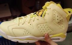 黄色花卉刺绣加持!Air Jordan 6 新配色首次曝光