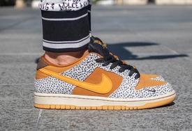 """上脚极其风骚!全新的 Nike SB Dunk Low """"Safari"""" 品品"""