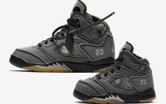 覆盖全尺寸!Off-White x AJ5童鞋和幼儿尺寸官图释出