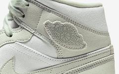 少见的帆布鞋面!这双 Air Jordan 1 Mid 工装气十足