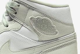 少見的帆布鞋面!這雙 Air Jordan 1 Mid 工裝氣十足
