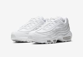 纯白装扮+反光细节!这双 Air Max 95 小白鞋清新讨喜