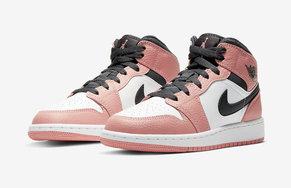 甜美气息爆棚!粉色 Air Jordan 1 Mid 小姐姐心动了吗?