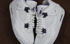 "Air Jordan 4""Court Purple"" 首次曝光!气质相当清新高级"