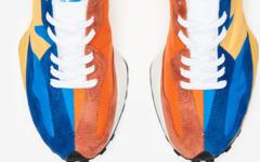 高质感鞋面+橙蓝阴阳设计!这双 New Balance 327 有点酷