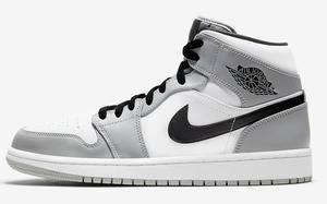 "Dior 聯名最佳平替?Air Jordan 1 Mid ""Light Smoke Grey"" 現已登場"