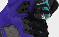 麂皮鞋面+精致刺绣!Air Jordan 5 新紫葡萄规格不低!