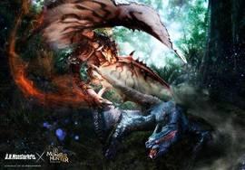 S.H.MonsterArts《怪物猎人》,凶猛的雄火龙