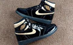 Air Jordan 1 黑金漆皮,整的就是一个奢华范