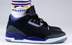 上脚有点帅!全新黑紫 Air Jordan 3 你打几分?