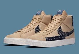 日式小刺方式勾勒的花纹!全新 Nike Blazer Mid 古朴高级!