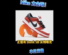 Nike 太会玩了!芝加哥 Dunk Low 本月发售!