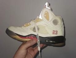 Air Jordan 5 x OW惊艳首秀,蝉翼鞋面一改OG风格