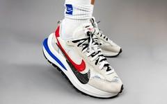 好看!sacai x Nike Vaporwaffle 白红配色上脚美照释出!