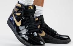 奢华上脚,Air Jordan 1黑金配色颜值颇高