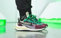 今秋重头戏! sacai x Nike Vaporwaffle 紫绿配色上脚图辑释出!