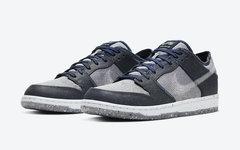 "灰蓝风格的回收系列鞋款,Nike SB Dunk Low ""Crater""即将发售"