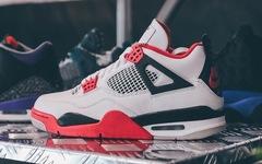 """秋冬妥妥的穿搭利器,Air Jordan 4 """"Fire Red""""美图来袭"""
