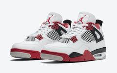 官图释出!Air Jordan 4 元年白红配色下月重磅回归!