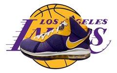 "实物首次曝光!全新 Nike LeBron 8 ""Lakers"" 下月发售!"