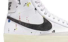 艺术气息浓郁的泼墨设计!Nike Blazer Mid '77 更多图片曝光!