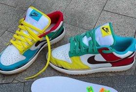 """第一次曝光!Nike Dunk Low """"Free 99"""" 不对称鸳鸯设计太炸了!"""