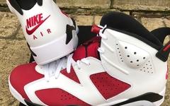 完美还原元年设计!胭脂红 Air Jordan 6 最新实物释出!