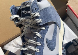 Notre x Nike Dunk High 蓝色版实物曝光!Swoosh 依旧是亮点!