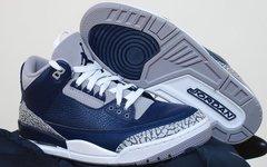颜值质感兼具!午夜蓝 Air Jordan 3 即将来袭!