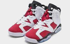 """下月重点!Air Jordan 6""""Carmine"""" 胭脂红将以全家族尺码登场!"""