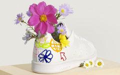 后跟花卉涂鸦有点好看!adidas Stan Smith 新品现已发售!